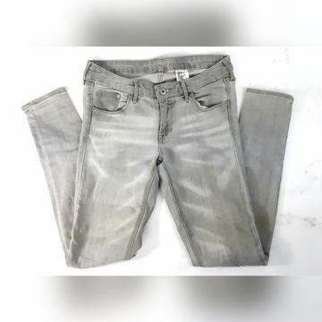 H&M spodnie szare skinny 26 jeans