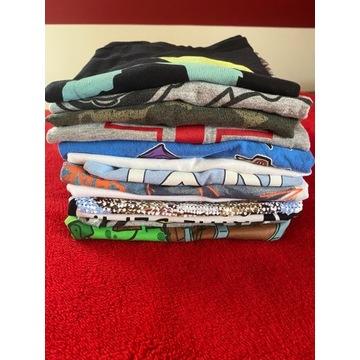 Zestaw koszulek 134-140 bluzki