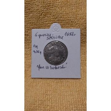 6 groszy 1682 srebro