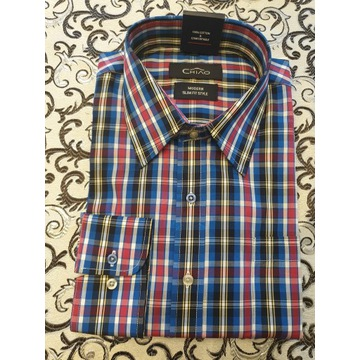 koszula męska w kratkę- 100% bawełny.