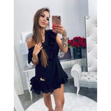 Czarna sukienka bawełniana Lola Bianka S/M
