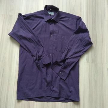 Męska koszula fioletowa