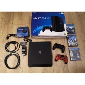 Playstation 4 Pro / PS4 Pro / 2 Pady / 3 Gry / BCM