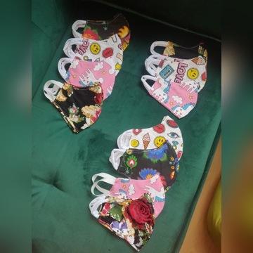 Maseczki bawełniane maski - hand made