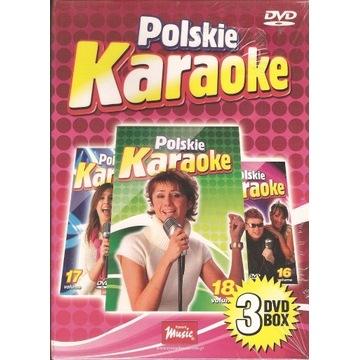Polskie karaoke 3dvd box nowy folia