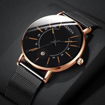 Ładny-klasyczny zegarek z datownikiem Licytacja!