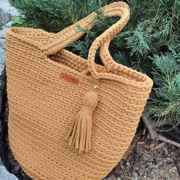 Torba shopperka - handmade rękodzieło
