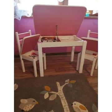 Stolik + 2 krzesełka ( różowy dla księżniczki)