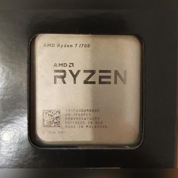 Procesor AMD Ryzen 7 1700 AM4 Gwarancja do 02.2022