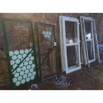 drzwi zewnętrzne PCV, okna używane, nadproża itp