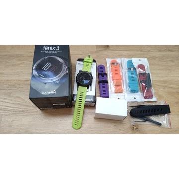 Zegarek Garmin Fenix 3 + akcesoria. Jak nowy.