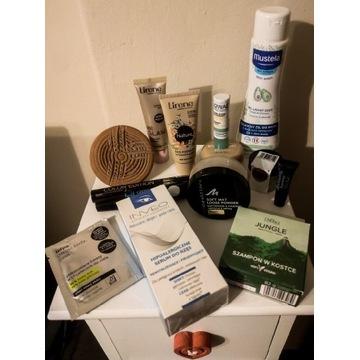 Duży zestaw kosmetyków nowych i używanych próbki