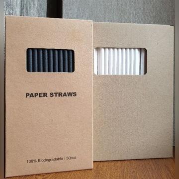Rurki słomki papierowe 50 sztuk  Bydgoszcz