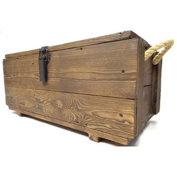 Skrzynka skrzynia drewniana Kufer Vintage 70x37x32