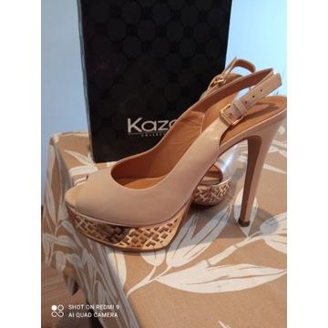 Nowe, oryginalne szpilki na platformie firmy KAZAR