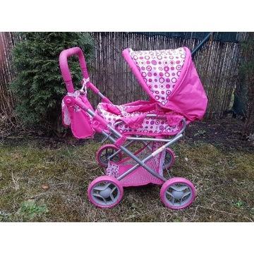Wózek dla lalek lalki dla dziewczynki różowy ADAR
