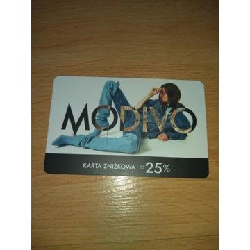 Karta rabatowa Modivo -25%