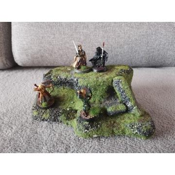 Tereny do gier, diorama, wzgórze, góra, makieta