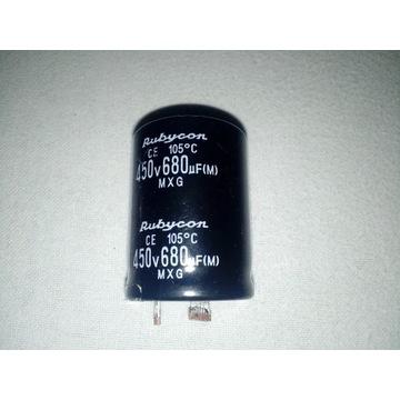 kondensator rubycon 450V 680uF
