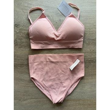 Nowy komplet, strój do pole dance, kolor różowy