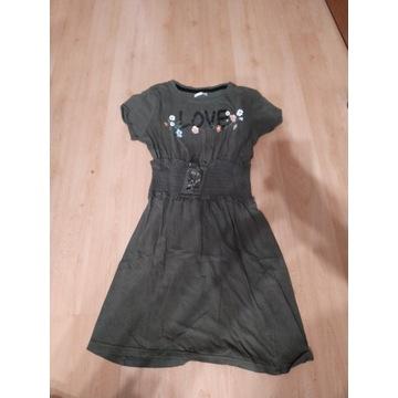 Sukienka 158 z szerokim pasem w gumke