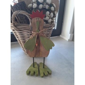 Drewniana kura dekoracja na święta i nie tylko