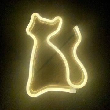 Neon LED Kot, super prezent, lampka dla dzieci