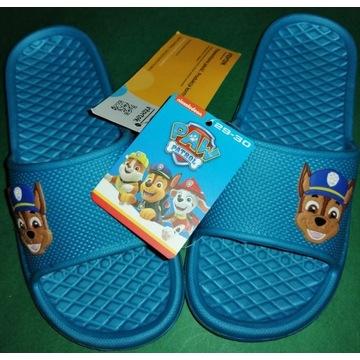 Buty ogrodowe klapki dziecięce psi patrol r.29~30
