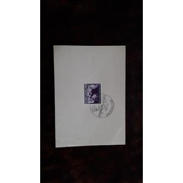 Kartka pocztowa 1942 BROMBERG stempel MI 811 REICH