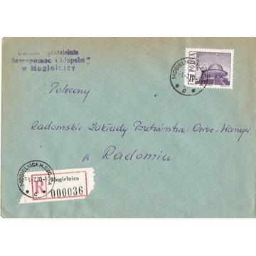 Mogielnica - Koperty listów poleconych 1960-80