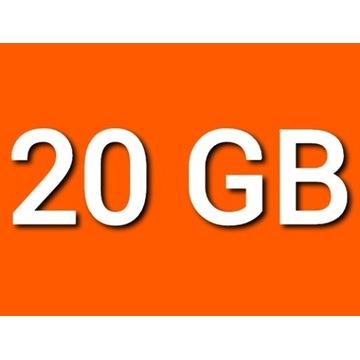 TRANSFER CHOMIKUJ 20GB 30 DNI