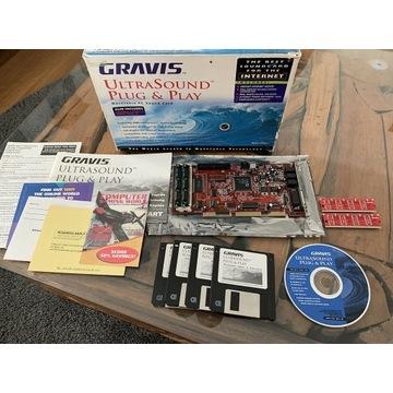 """Gravis Ultrasound PnP - pudełko + pamięci """"Gravis"""""""