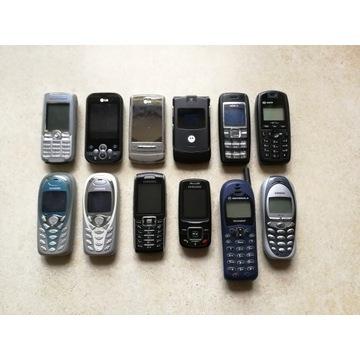 Zestaw 12 telefonów komórkowych