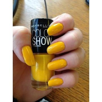 Mabylline lakier do paznokci electric yellow żółty