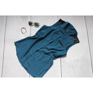 Sinsay niebieska koszulka bez rękawów L