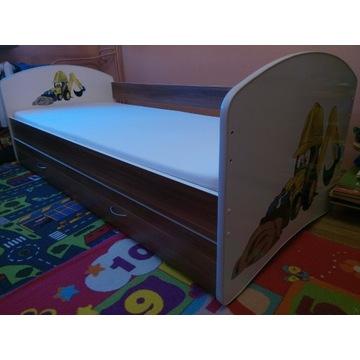Łóżko dziecięce JUNIOR 2w1 80x180 BarierkaMaterac