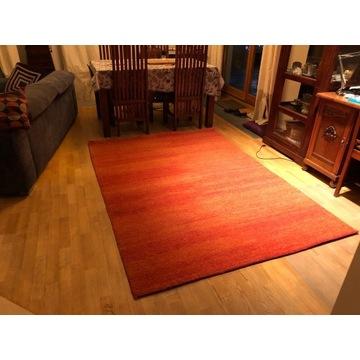 Wełniany dywan 170x340 cm piękny ceglany