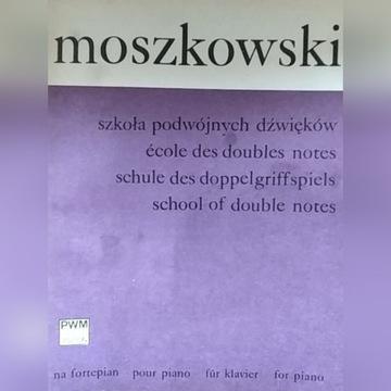Moszkowski Szkoła podwójnych dźwięków na fortepian