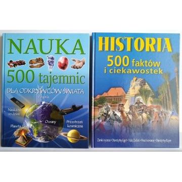 Nauka 500 tajemnic Historia 500 faktów ciekawostek
