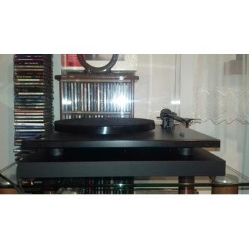 gramofon rega rp1+ortofon OM5e jak nowy+platforma