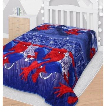 Narzuta na łóżko Spiderman  142x205cm pled