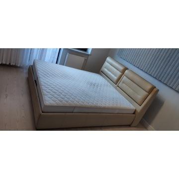 Zestaw sypialniany - łóżko, szafki nocne i RTV