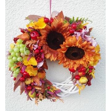wianek jesiennny na drzwi do okna 40cm
