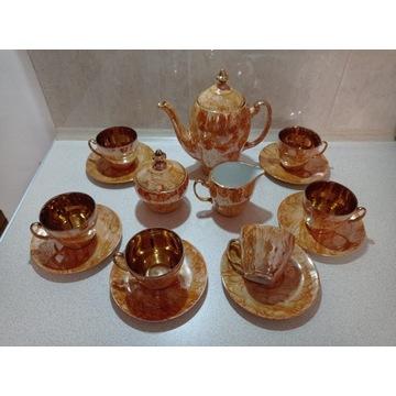 Zestaw kawowy porcelanowy 70' Włocławek  marmurek