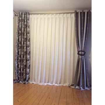 Firana - dekoracja okienna - Zasłona 3 warianty