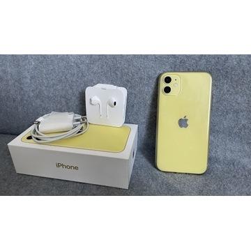 iPhone 11 | 128GB | ŻÓŁTY | Idealny stan
