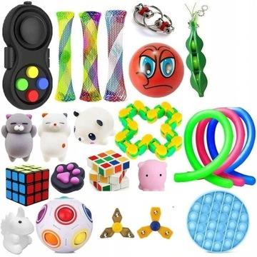 23 Pcs Fidget Cube zestaw Antystresowe zabawki