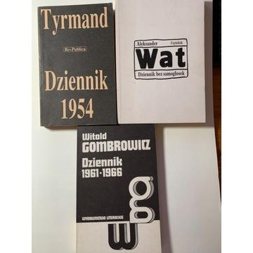 Tyrmand, Wat, Gombrowicz, Dzienniki