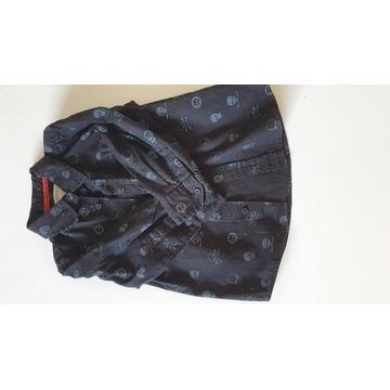 czarna koszula w czaszki 98