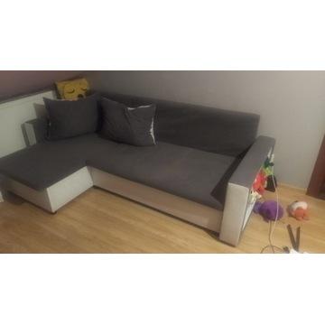 Kanapa sofa rogowa szara